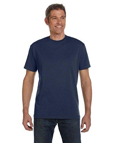 econscious Men's 100% Organic Cotton Short Sleeve Tee (Pacific, Large)