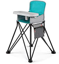 Summer Pop 'n Sit SE Highchair, Sweet Life Edition, Aqua Sugar Color - Portable High Chair for Indoor/Outdoor Dining – Space Saver High Chair with Fast, Easy, Compact Fold, for 6 Months – 45 Pounds