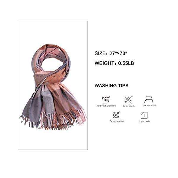 SOJOS Classic Plaid Tartan Cashmere Scarf for Women Men Soft Check Tassel Scarves SC316
