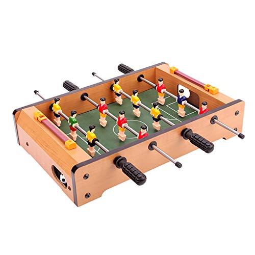 Fußball Tischfußballspiele Holzfaserplatten Edelstahl Club Nicht leicht verformt Langlebig Gesundes und ungiftiges Geschenk für Kinder (Color : WOOD COLOR, Size : 34 * 22 * 7CM)