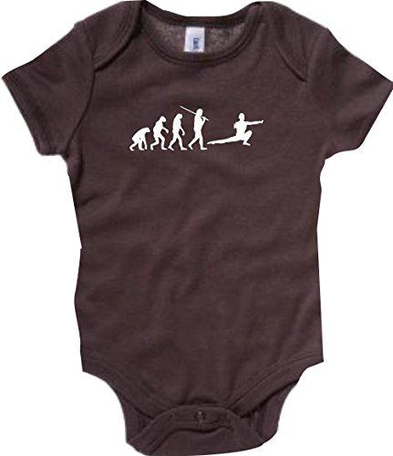 Unbekannt Krokodil Baby Body Evolution Kampfsport,Judo,Karate,Aikido,Kung FU,Jiu Jitsu Farbe braun, Größe 12-18 Monate