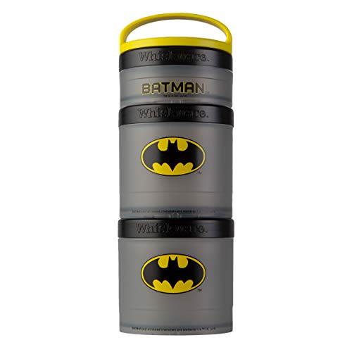 Whiskware Justice League Stackable Snack Pack, 2 1/3 cups, Batman