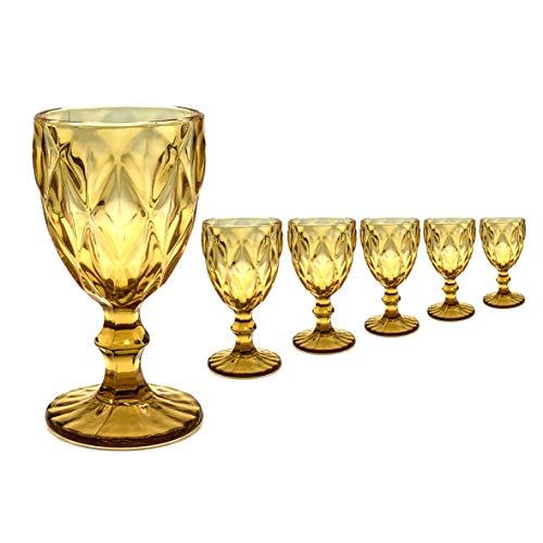Copa Labrada Ambar - (Pack de 6) - cristal