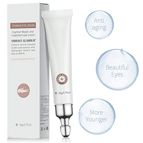 41Io4GM3cSL - 2 PCS Eye Cream for Dark Circles and Puffiness Under Eye Bags Fine Lines Wrinkles, Ms.DEAR Anti Aging Under Eye Treatment with Natural Crocodile Oil for Women 0.7Oz