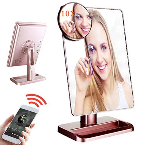 Make-up spiegel, verlichte make-upspiegel, 20 LED cosmetische spiegel met 10x vergroting Mirrorï1⁄4їTouch scherm dimmen, 180° draaibare rotatie Vanity Mirror, USB Power Table Mirror C