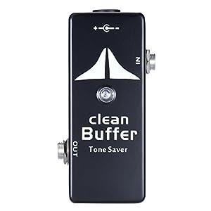 Ammoon Mini-Effektgerät für Gitarre, Effektpedal, Overdrive, True Bypass, Gehäuse aus Zink-Aluminium-Legierung Clean Buffer