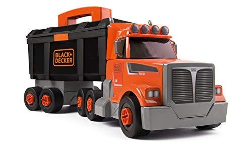 Smoby- Black+Decker Bricolo Camion con Cassetta Attrezzi, Colore, 7600360175