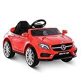 HOMCOM Voiture véhicule électrique Enfant 6 V 7 Km/h Max. télécommande Effets sonores + Lumineux Mercedes GLA AMG Rouge