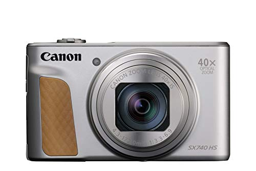 Canon コンパクトデジタルカメラ PowerShot SX740 HS シルバー 光学40倍ズーム 4K動画 Wi-Fi対応 PSSX740HSSL