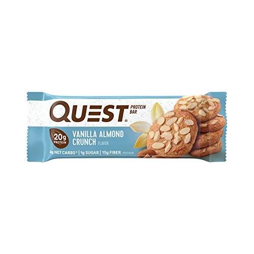 Misión Nutrición vainilla Almond Crunch Protein Bars–Pack de 12barras de proteína