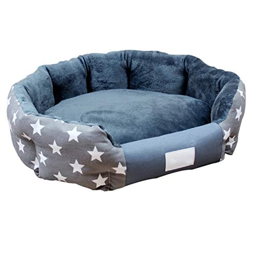 LohugoDetachable And Cleaning Plush Round Dog Bed, Pp Cotton Filling, Using In All Seasons, Suitable For Small, Medium And Large Dogs