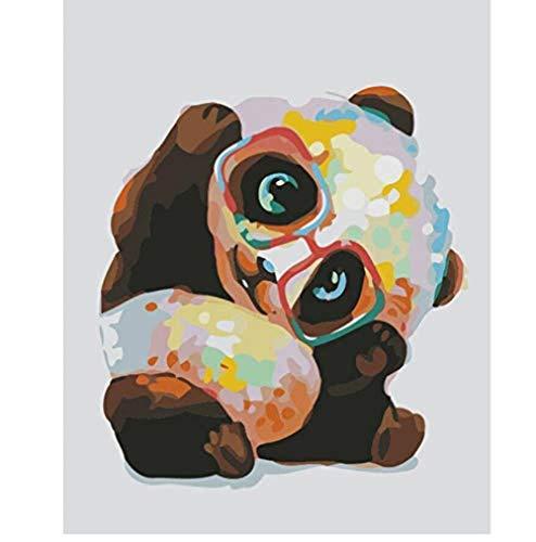 ARTMOM Erwachsene Malen nach Zahlen Kits Schöne Panda Tier Wanddekoration DIY 40X50CM -Kein Rahmen