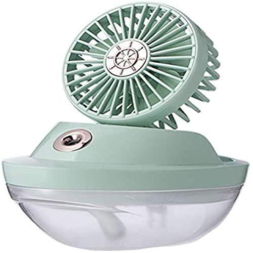 Handheld Fan, Usb Draagbare Office Elektrische Ventilator, Desktop Stille Kleine Spray Fans Met Bevochtig Kleurrijke Nachtlampje En, 2