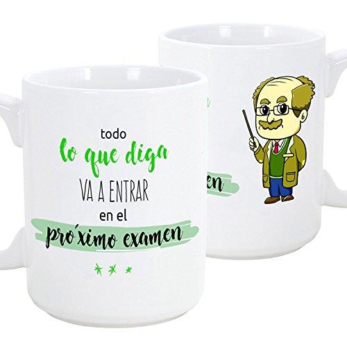 Taza de Desayuno Original para Regalar a Trabajadores Profesionales - Regalo para Profesores - Todo lo Que Diga va a Entrar en el próximo Examen (Hom