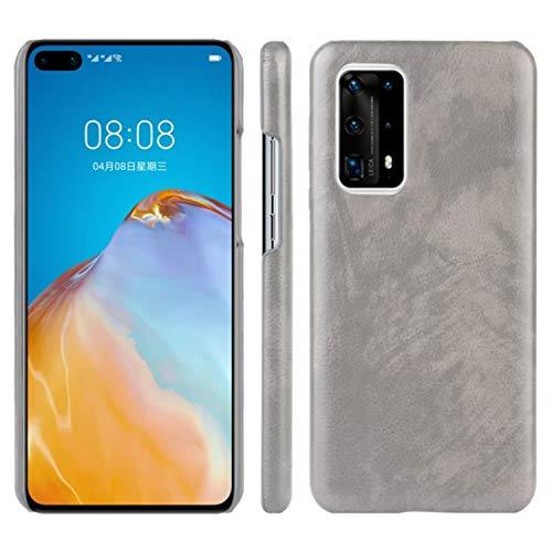 HualuBro Handyhülle für Huawei P40 Pro Plus Hülle, Retro PU Leder Ultra Slim Stoßfest Schutzhülle Lederhülle Back Bumper Hülle Cover für Huawei P40 Pro+ Plus 5G Tasche (Grey)