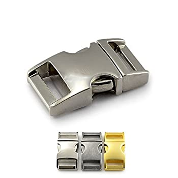 Fermoir à clip en métal, idéal pour les paracordes (bracelet, collier pour chien, etc), boucle, attache à clipser, grandeur: M, 5/8?, 39mm x 20mm, couleur: imitation pierre, de la marque Ganzoo - lot de 3 fermoirs