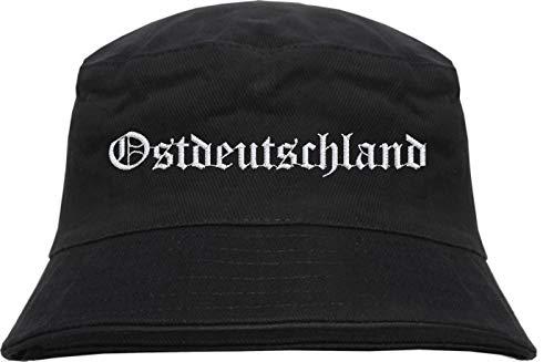HB_Druck Ostdeutschland Fischerhut - Bestickt - Bucket Hat Schwarz L/XL