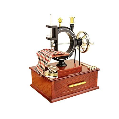 GZQDX Music Box Vintage Music Box Mini Couture Style Anniversaire Nouvel an Fête Table Cadeau Dîner Décor Bon Son