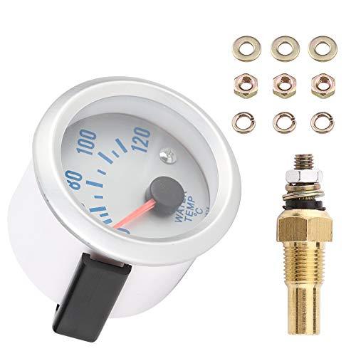 Auto Wassertemperaturanzeige, 52 mm 2in Universal-Automotor Digitale blaue LED Wassertemperaturanzeige 40-120 ℃ Bereich