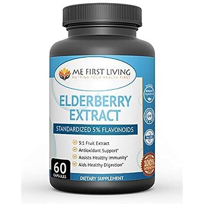 Me First Living Black Elderberry Capsule Antiox...