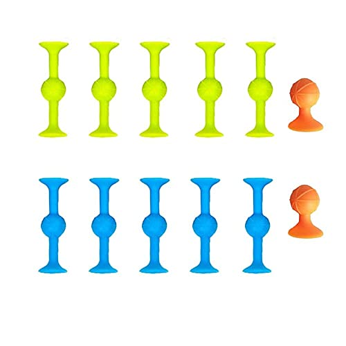 LXKK Sucker Toys - Outdoor Games for Adults and Family, Soft Silicone Target Marker and Darts Funny Toy Set, Soft Silicone Building Blocks Suckers Toy, Stress Relief Toys (1 Set)