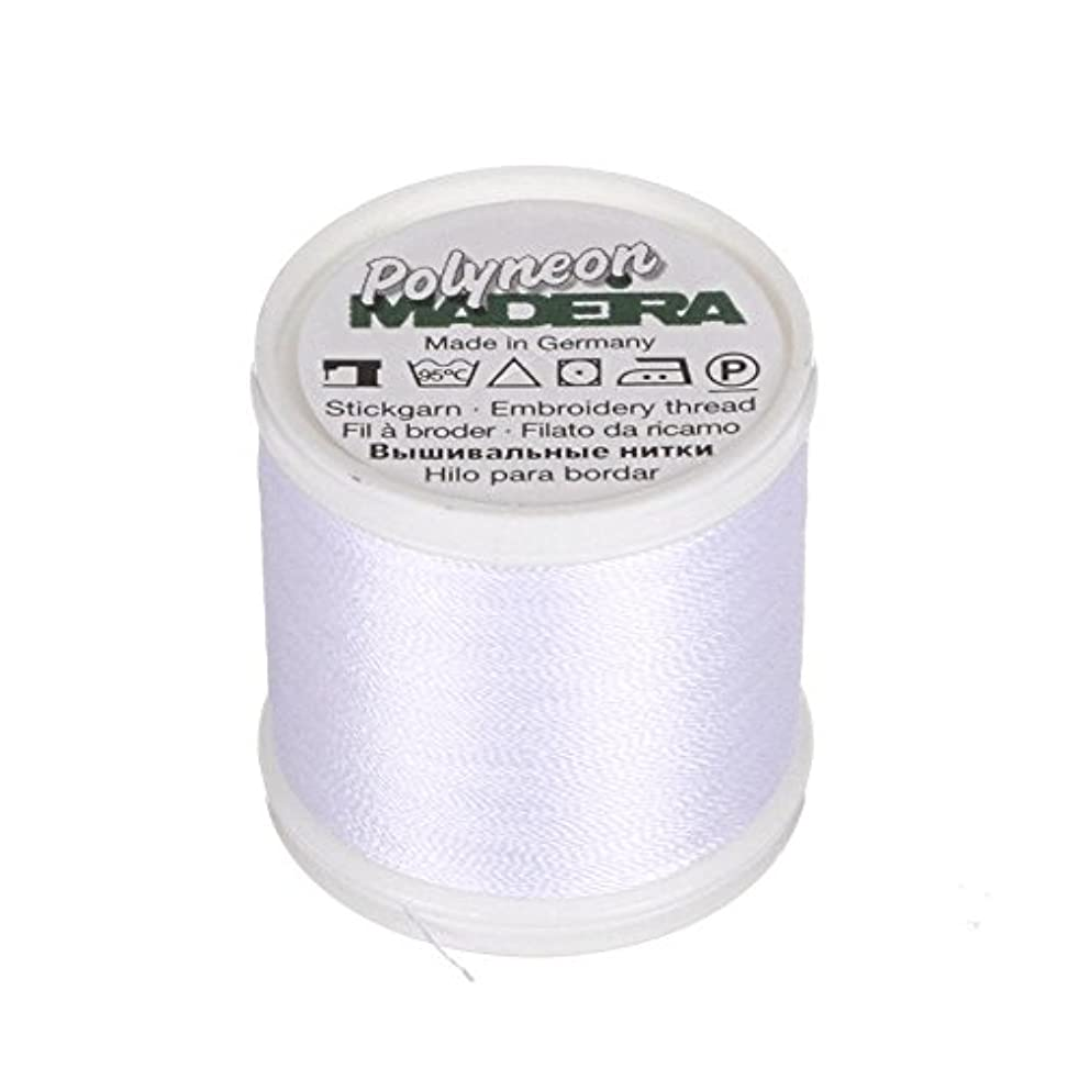 Madeira 9845-1801 2 Ply Polyneon Polyester Embroidery Thread, 40wt/135d 440 yd, Bright White