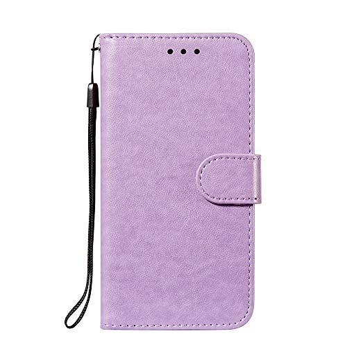 ケース 対応機種「 Redmi Note 10 Pro 」 [KAIDON] [モデル番号: D16-006#] 良質PUレザー マグネット開閉 カード収納 手帳型 ケース カバー (紫)