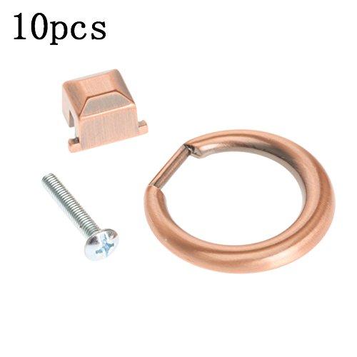 10 Stks Zilver Modern Kast Lade Dressoir Closet Pull Handvat Meubilair Ring Knop Oud Rood
