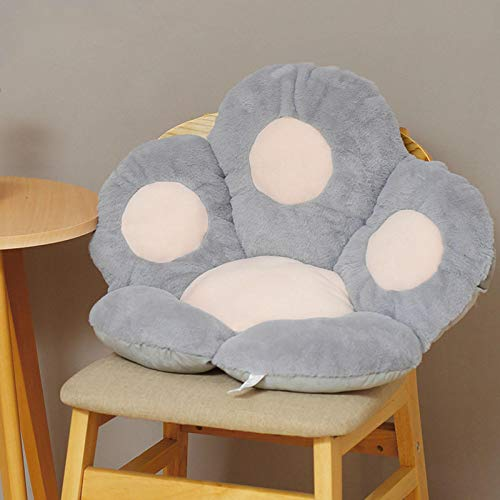 mementoy Soft Seat Pad Chair Seat Cushion Padded Cat Paw Cushion With Lower Back Support, 65x60x9cm