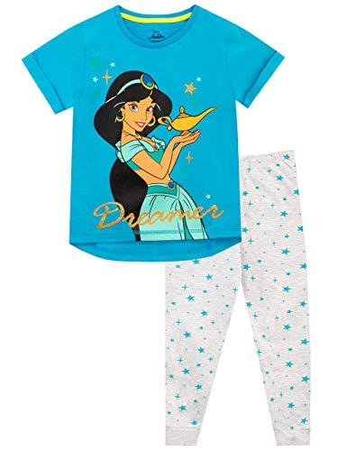 Disney Pijamas de Manga Corta para niñas Aladdin Azul 7-8 Años
