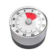 Balvi - Basics Mechanical and Magnetic Timer. 60 Minutes Timing Capacity. Alarm Sound When time is reached. Bicolour dial face. Ideal for The Kitchen