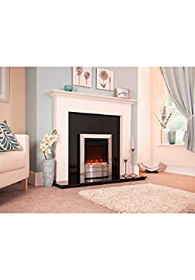 Designer Celsi Fire - Electriflame XD Essence Brushed Silver 16''