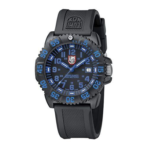 Luminox Militär Uhr Herren Navy Seals Serie (XS.3053.F) Made in Schweiz, Schwarzes Uhrband, Gehäuse und Ziffernblatt, 200m Wasserdichte