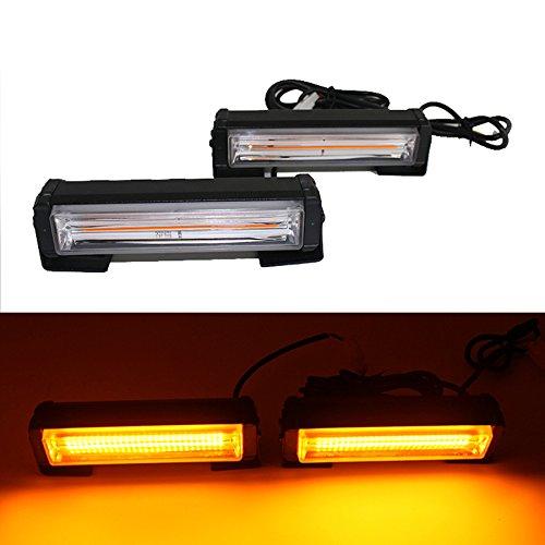 Led Blitzer, HEHEMM Stroboskop Blitzer 36W COB Frontblitzer Warnlicht Externes Blitzlicht Blinkende Lampe Autodach Licht Notlicht für LKWs Auto Auto 12V-24V (Bernstein)