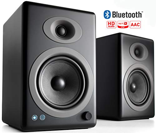 Audioengine A5+ 150W Wireless Powered Bookshelf Speakers, Bluetooth aptX HD 24 Bit DAC, Built-in...
