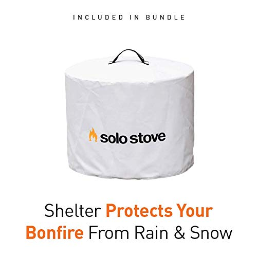Product Image 5: Solo Stove Bonfire Backyard Bundle Includes Bonfire Fire Pit with Stand, Bonfire Shield, Carry Case, and Waterproof Shelter
