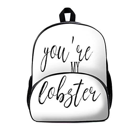 Zaino per la scuola Youre My Lobster 18 x 30 x 40 cm Zaino, Zaino da viaggio, Business College Bookbags