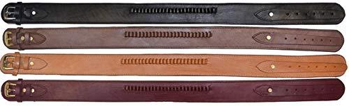 Western Express Brown Genuine Leather .38 Caliber Cartridge Gun Belt (44)