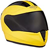 Steelbird SA-1 Aeronautics Full Face Helmet with Smoke Visor (Matt Yellow, L)