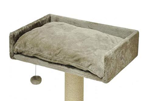 nanook Liegeplatz mit Kissen und inkl. Spielball, Katzenbett als Aussichtsplattform für Katzen-Kratzbaum Sigurd, 60x40 cm