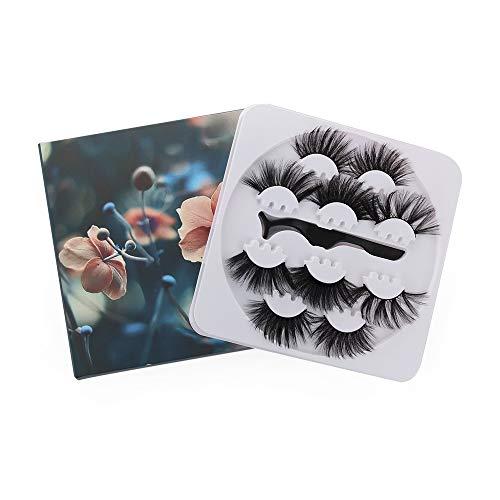 Handgefertigte dicke Wimpernverlängerung, lang, dramatisch, 3D-Augenwimpern, 25 mm, falsche Wimpern, Nerz, falsche Wimpern, Make-up-Werkzeug (RE515)