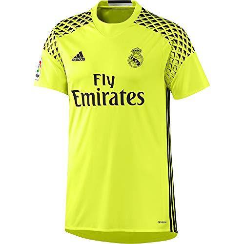 adidas 2ª Equipación Real Madrid CF Camiseta, Hombre, Amarillo (Amasol/Negro), XS