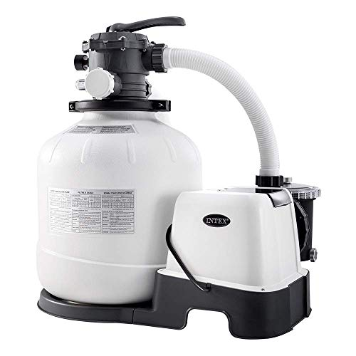 Intex 26680 - Sistema Combinado depuradora Arena y clorador salino Eco 11 Gramos/Hora, 56.800 litros