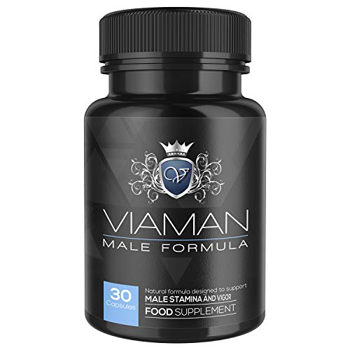 Viaman Kapseln - Zur Vergrößerung & Verbesserung der Standhaftigkeit, Mehr Energie & Ausdauer, Natürliche Nahrungsergänzung für den aktiven Mann, Ohne Nebenwirkungen - 30 Kapseln für mehr Leistung