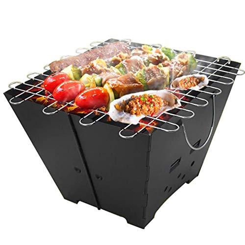 CHENMAO Portátil de Acero Inoxidable Barbacoa de carbón Grill Plegable de Mesa Parrilla Conjunto for 2-5 Personas Que acampan yendo de días de Campo Cocina de la Fiesta