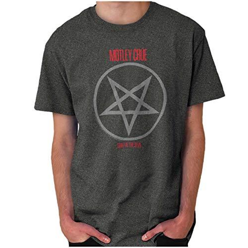 Official Motley Crue Rock Band 1980s Logo T Shirt Tee Dark Heather