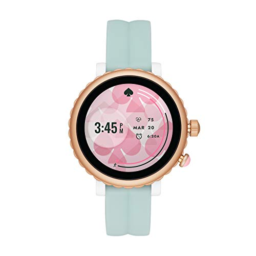 Kate Spade New York Women's Scallop Sport Heart Rate Silicone Touchscreen Smart Watch, Color: Rose/Mint (Model: KST2020)