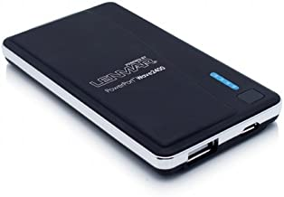 Lenmar Revv 2500 mAh 1 USB Port Power Bank External Portable Charger Battery Pack for Charging Batteries of iPhone 4 5 6 6 Plus Android Galaxy S5 S4 S3 Note 3 Note 4 Phones and other USB Powered Devices with Micro USB Cable, Black