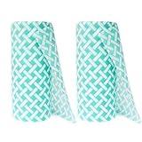 JEBBLAS カウンタークロス 不織布ふきん 不織布 クロス 雑巾 キッチンクロス 約25 cm x 30 cm (90 2ロール 緑)