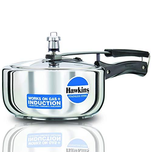 Olla a presión de acero inoxidable Hawkins modelo B60 de 3 litros